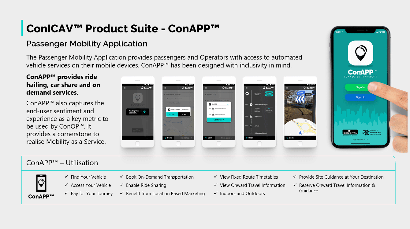 ConICAV Product Suite - ConAPP